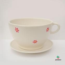 Maceta TeaCup color blanco
