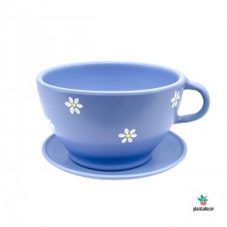 Maceta TeaCup color azul