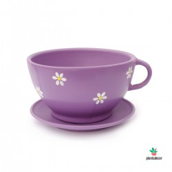 Maceta TeaCup color lila