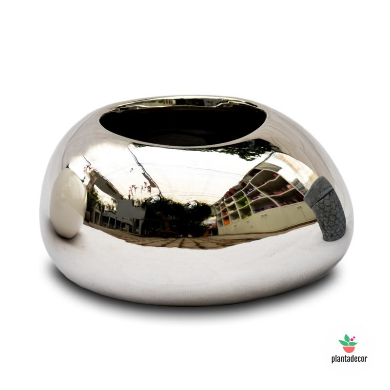 Maceta Cache Pot Mirror Silver