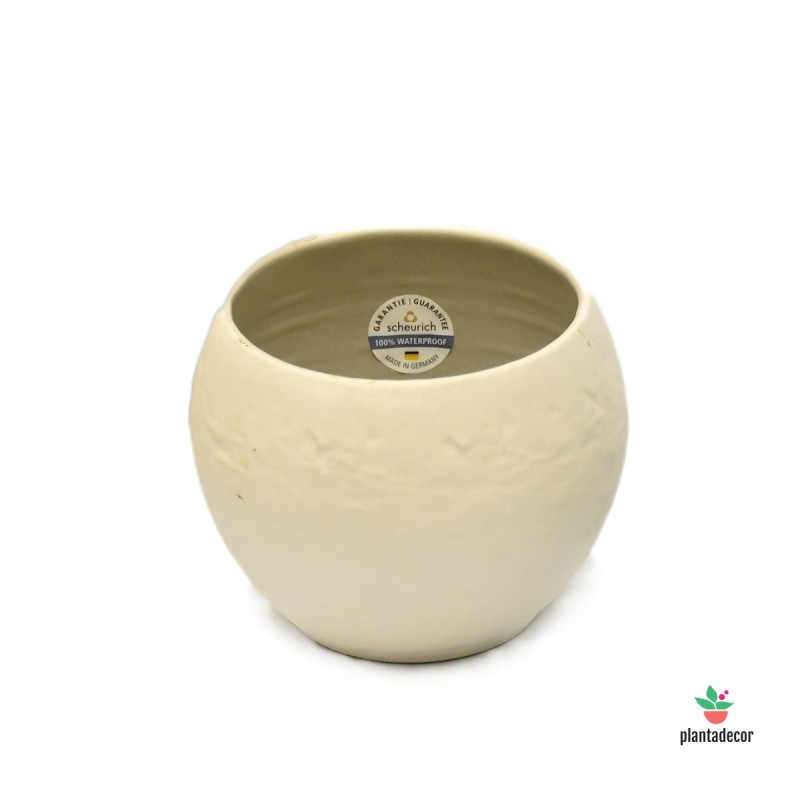 Maceta Cache Pot Cream Stone 16 cm