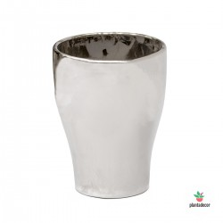 Maceta Vase Mirror Silver