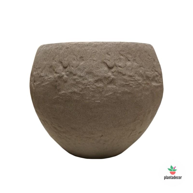 Maceta Cache Pot Taupe Stone 16 cm