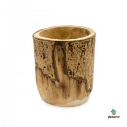 macetero de madera natural