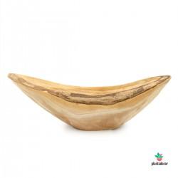 Centro canoa de madera natural