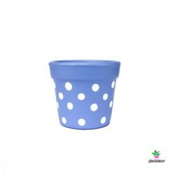 Maceta Petite Dots Azul...