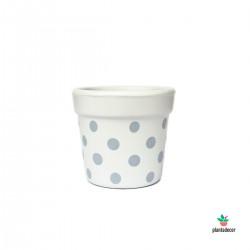 Maceta Petite Dots Blanco /...