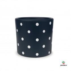 Maceta Cilindrica Dots Azul...