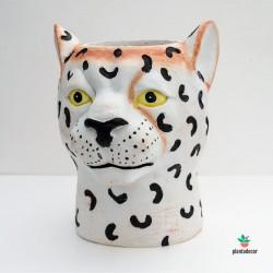 Macetero Cerámica Leopardo