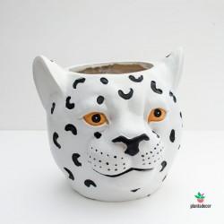 comprar macetero leopardo cerámica