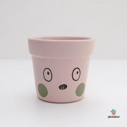 Maceta caractus rosa verde grr