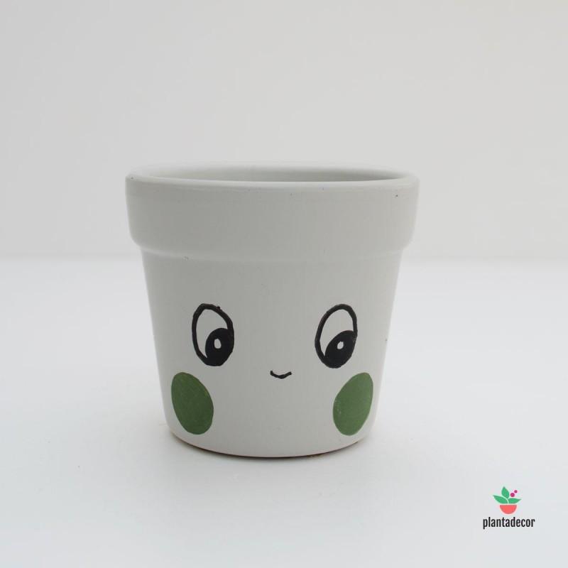 Maceta pequeña cactus carita sonriente