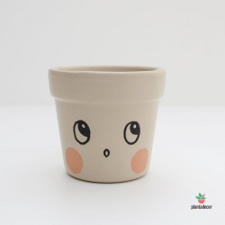 Maceta Caractus Wooou - Beige