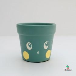 Maceta Caractus Wooou - Verde