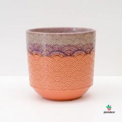 Macetero Seigaiha Naranja