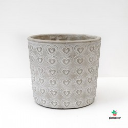 Macetero Concrete Heart G